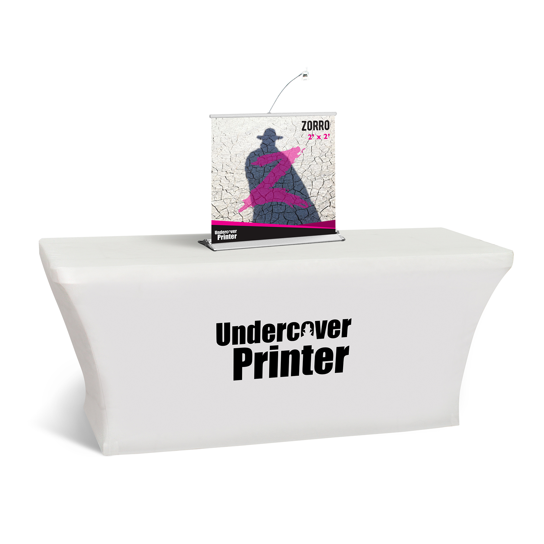 Zorro- 2x2- table top- banner- table top banner- display- trade show- local- VA- Undercover Printer