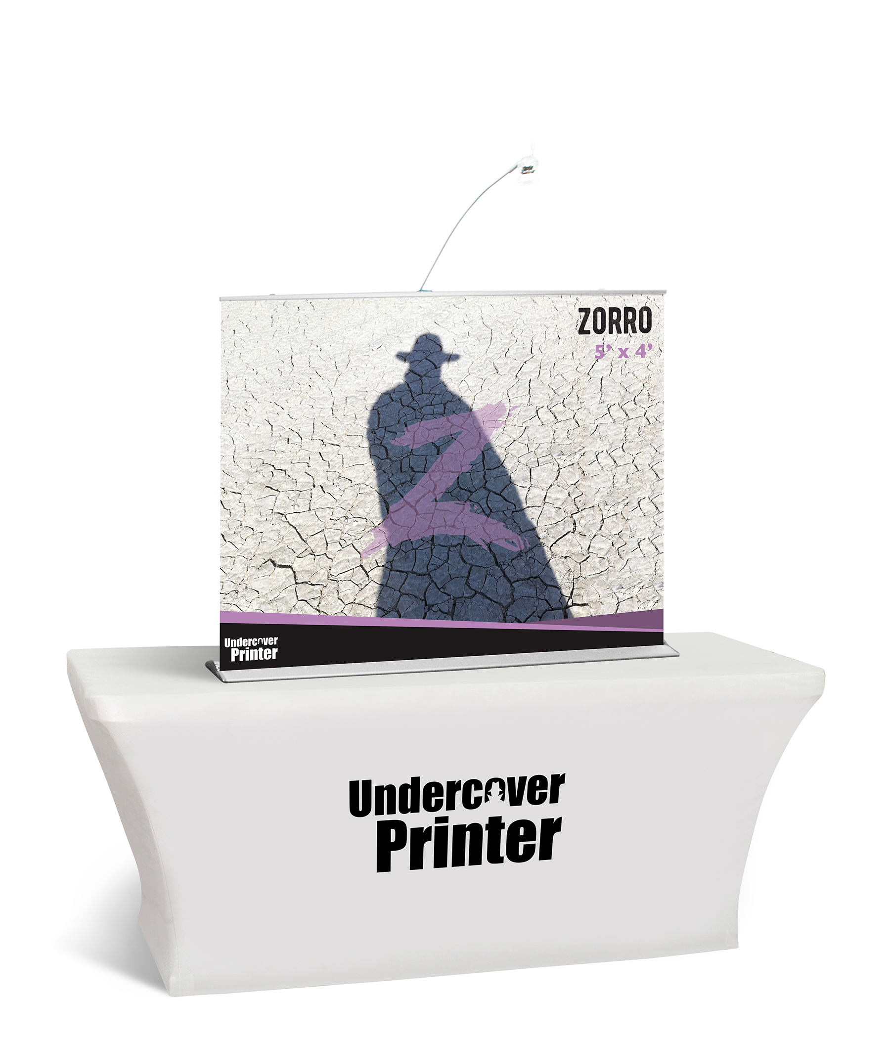 Zorro- 5x4- table top- banner- table top banner- display- trade show- local- VA- Undercover Printer